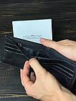Чоловічий гаманець з натуральної шкіри (чорний) - з тримачем для грошей, фото 4