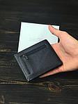 Чоловічий гаманець з натуральної шкіри (чорний) - з тримачем для грошей, фото 5