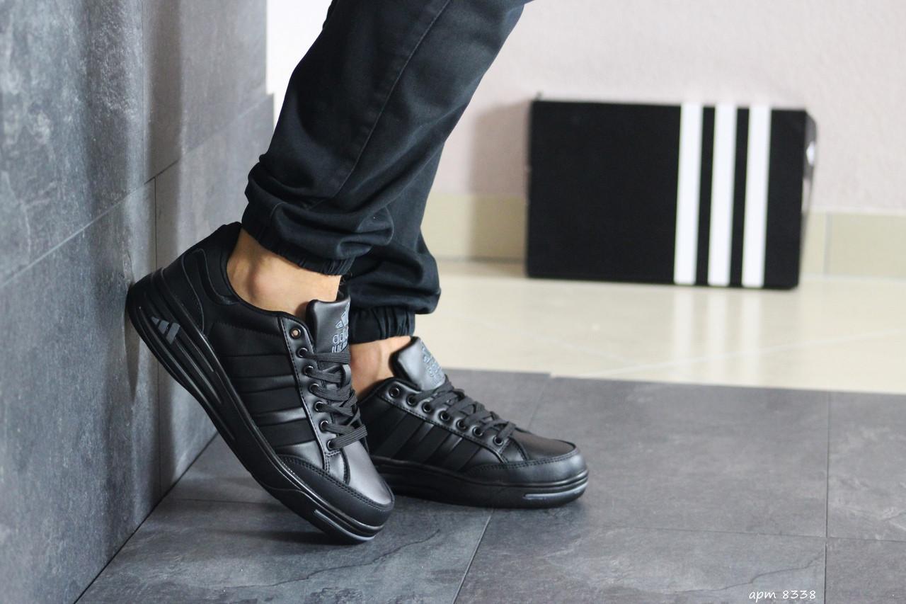 Мужские кроссовки Adidas ilie nastase (черные)