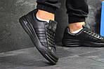 Мужские кроссовки Adidas ilie nastase (черные), фото 2