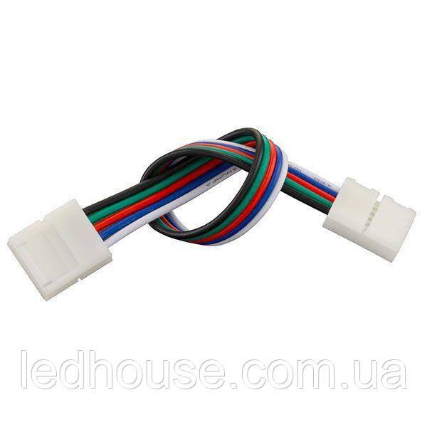 Коннектор для светодиодных лент OEM №22 10mm RGBW 2joints wire (провод-2зажима)
