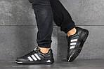 Мужские кроссовки Adidas ilie nastase (черно-белые), фото 2
