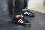 Мужские кроссовки Adidas ilie nastase (черно-белые), фото 3