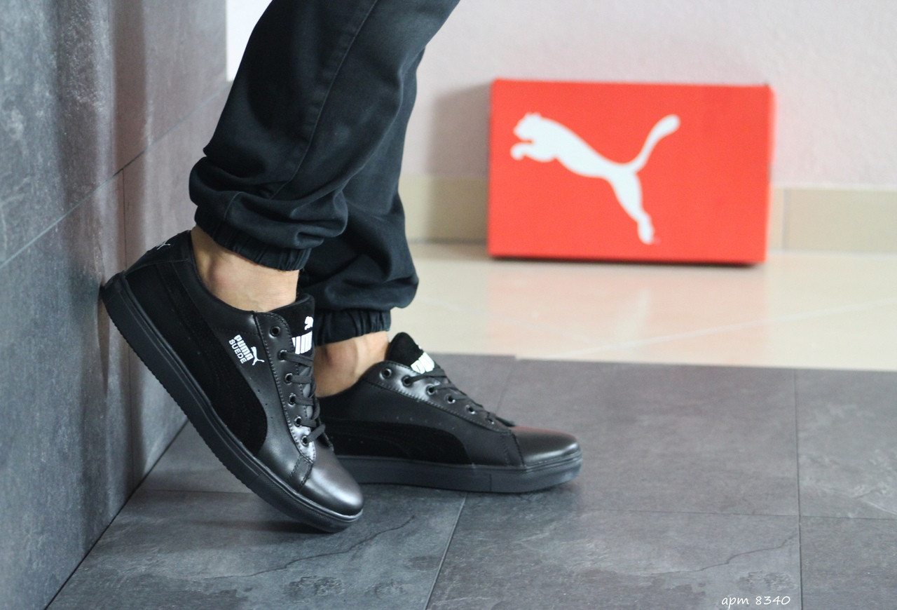 Чоловічі кросівки Puma Suede (чорні)