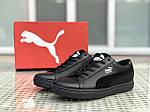 Чоловічі кросівки Puma Suede (чорні), фото 2