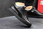 Чоловічі кросівки Puma Suede (чорні), фото 3