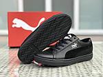 Чоловічі кросівки Puma Suede (чорні), фото 6