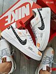Чоловічі кросівки Nike Air Force Low (білі), фото 3