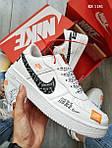 Чоловічі кросівки Nike Air Force Low (білі), фото 4
