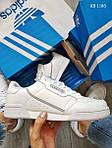 Чоловічі кросівки Adidas Continental 80 (білі), фото 5