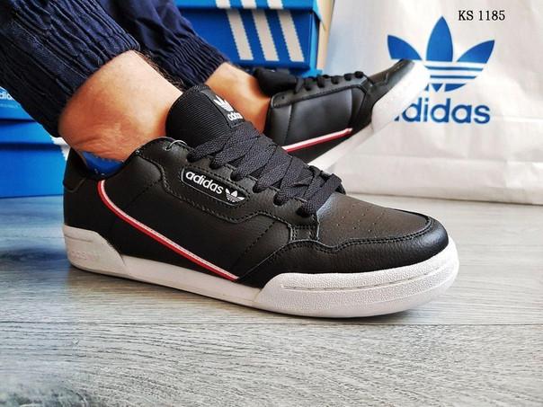 Чоловічі кросівки Adidas Continental 80 (чорно-білі)