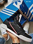 Чоловічі кросівки Adidas Continental 80 (чорно-білі), фото 2