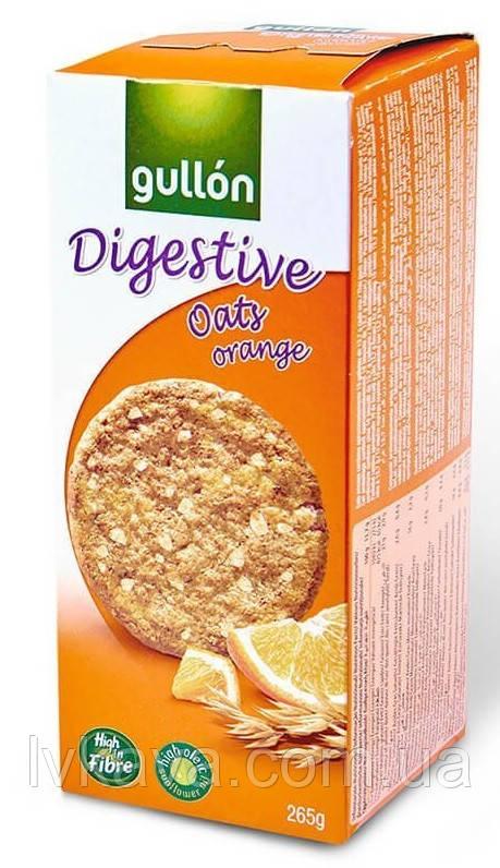 Печенье овсяное  Gullon Digestive oats & orange  , 425 гр