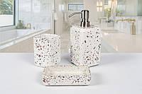 Комплект аксессуаров в ванную Irya Mozaik beyaz белый (3 предмета)