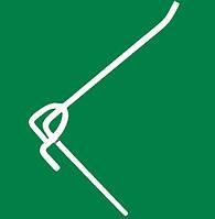 Крючки одинарные на сетку торговую 100 мм