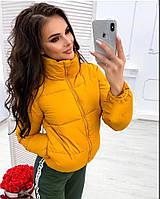 Осенняя куртка (цвет- горчица, ткань - матовая плащёвка + силикон 200) Размеры S,М,L (розница и опт)