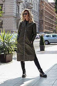 Куртка-пальто / плащевка, синтепон 100 / Украина 44-0135