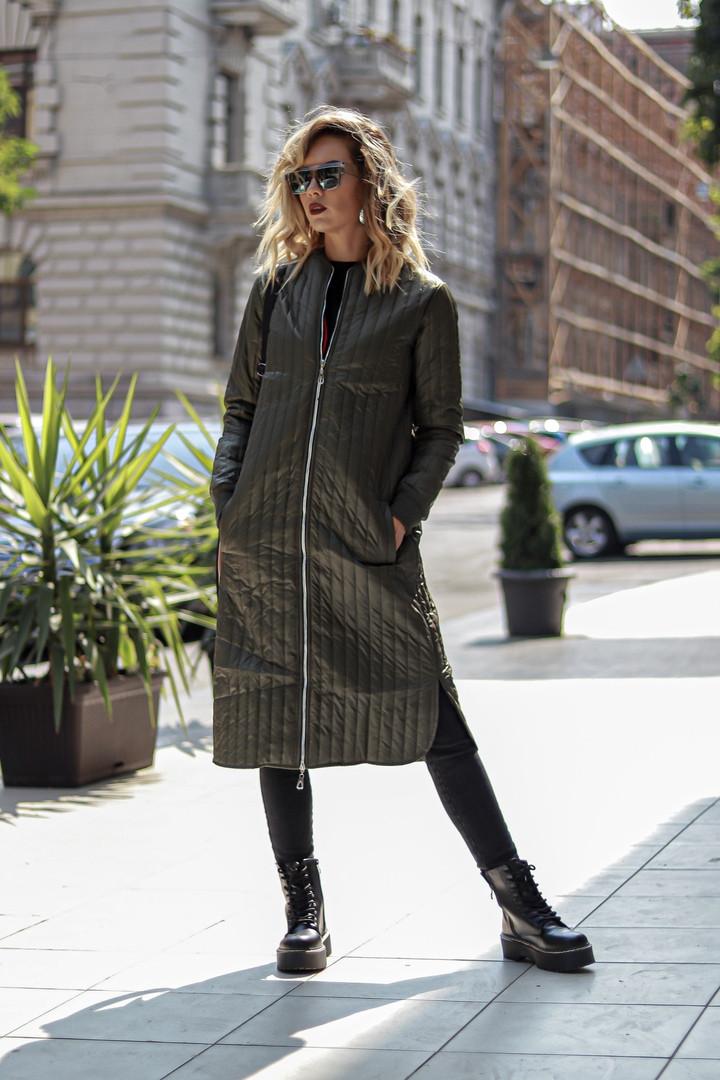 Куртка-пальто / плащевка, синтепон 100 / Украина 44-0135, фото 1