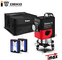 Профессиональный лазерный уровень Deko Pro LL12 HV 3D КРАСНЫЙ ЛУЧ, Лазерний рівень 12 ліній