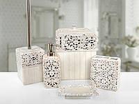 Комплект в ванную Irya Calisto krem кремовый (5 предметов)