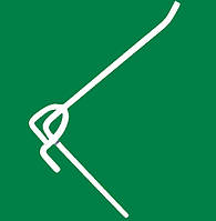 Крючки одинарные на сетку торговую 150 мм