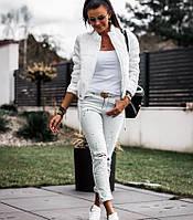 Короткая куртка (цвет- белый, ткань - плащевка + синтепон) Размеры S,М,L (розница и опт)