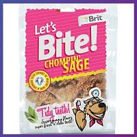 Brit Let's Bite CHOMPIN SAGE, 150 г - Здоровье зубов - лакомство для собак (шалфей)