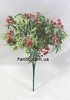 Красная брусники 30см искусственный ягодный куст, фото 1