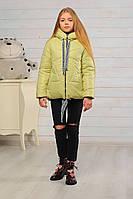 Демисезонная куртка для девочки, фисташка