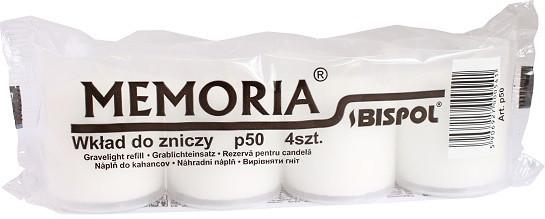 Лампадка белая в пластиковом стакане Bispol 4 шт 6 см (р50-a4-090)