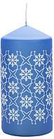 Свеча снежинка синяя Bispol 12 см  (sw60/120-499-050)