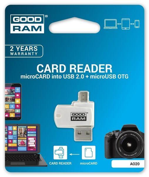 Кардридер GooDRam USB microSD (AO20-MW01R11)