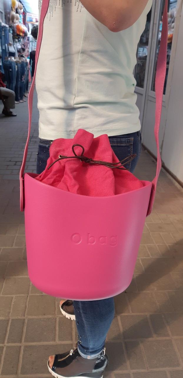 Сумка oBag basket в розовом цвете