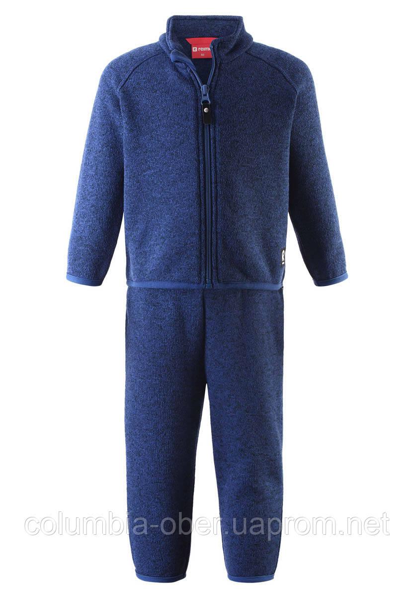 Флисовый комплект для мальчика Reima Tahto 516476-6760. Размеры 80 - 98.