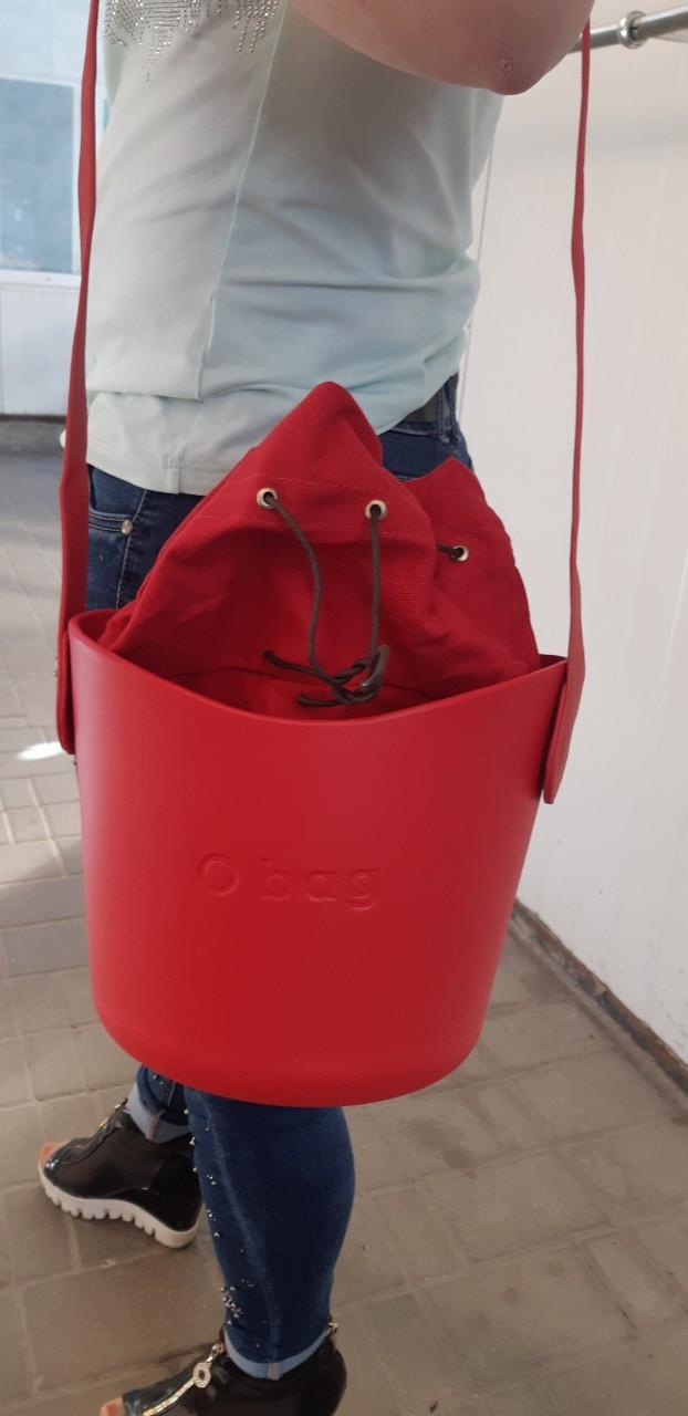 Сумка oBag basket в красном цвете