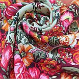 Заветная мечта 1821-4, павлопосадский платок шерстяной  с оверлоком, фото 10