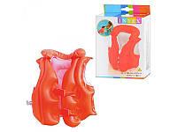 Жилет плавательный для малышей Intex 58671, яркий алый цвет, прочные материалы, отельные камеры, море/бассейн