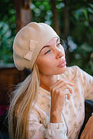 Женский Берет с бантиком, фото 1
