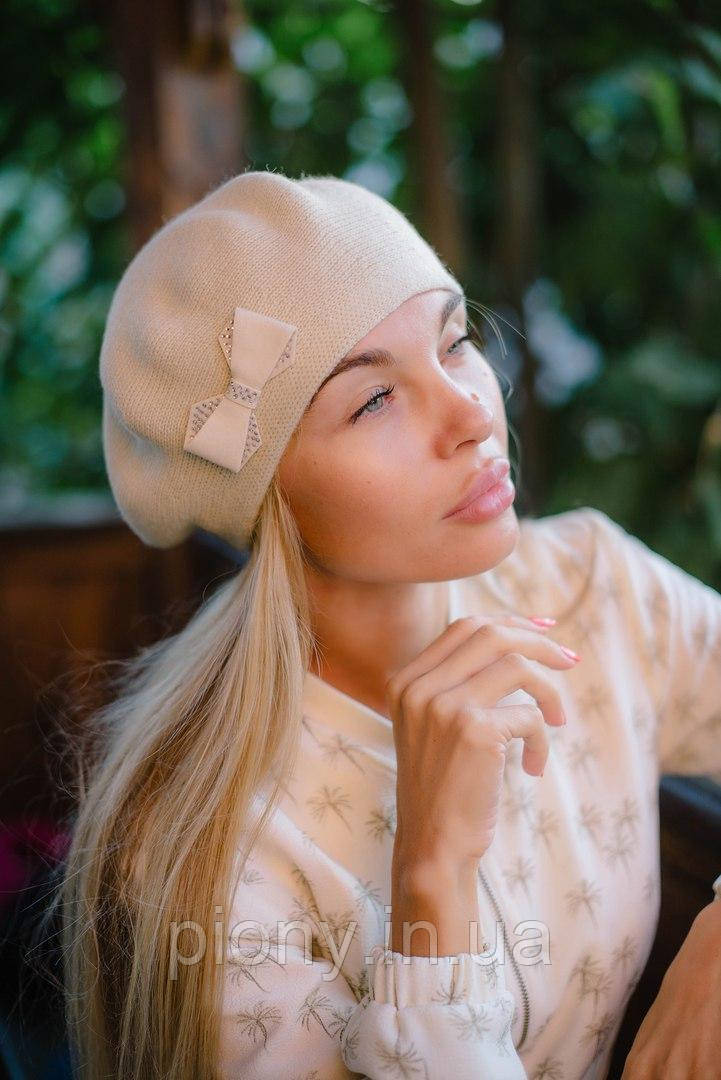 Женский Берет с бантиком