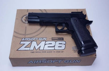 Игрушечное оружие Пистолет CYMA ZM26 металлический, фото 2