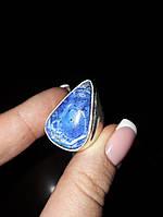 Дендритовый опал красивое кольцо капля с дендро-опалом в серебре 16,5 17 размер Индия, фото 1