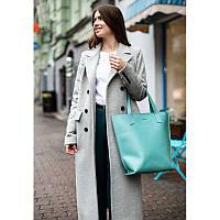 Кожаная женская сумка шоппер D.D. Бирюзовая, фото 1