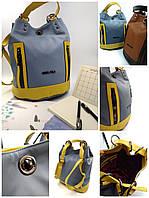 Рюкзак жіночий, голубой, экокожа Арт.9135 Angel Polo Туреччина (Вместительная и практичная женская сумка-рюкзак, голубой, экокожа.)