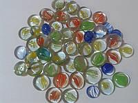 Камни декор стеклянные Stones капли (прозрачные внутри с рисунком)