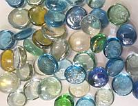 Камни декор стеклянные Stones капли (разноцветные)