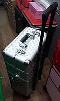 Чемодан-трансформер 3 в 1 проффесиональный на колесиках для мастеров, размер 74х22х36 см, цвета в ассортименте, фото 1