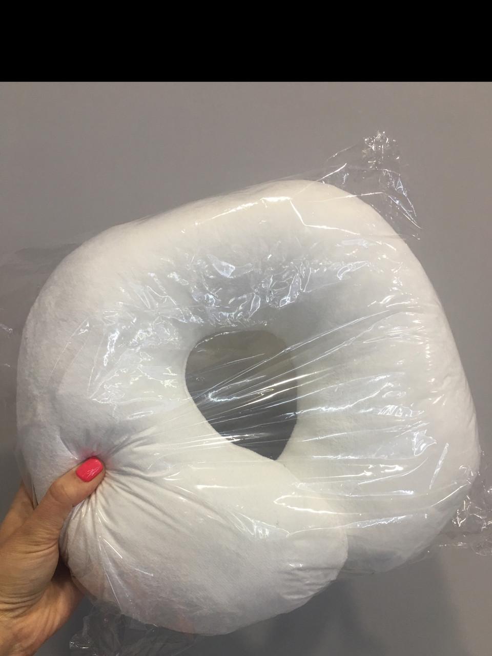 Подушка - подкова, белая