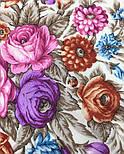 Сад души 1599-2, павлопосадский платок шерстяной с шерстяной бахромой, фото 3