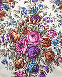 Сад души 1599-2, павлопосадский платок шерстяной с шерстяной бахромой, фото 4