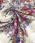 Сад души 1599-2, павлопосадский платок шерстяной с шерстяной бахромой, фото 5